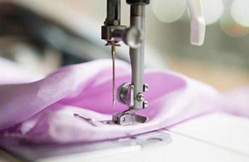 Fabric in a sewing machine