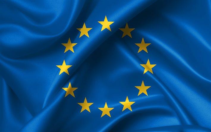 Thumb2 4k european union flag silk flag europe national symbols